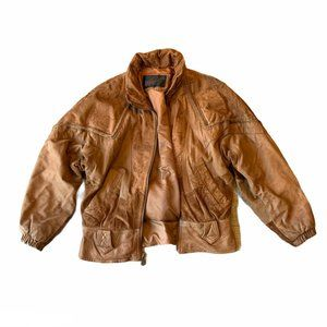 Winlet Leather/Suede Women's Bomber Jacket Vintage